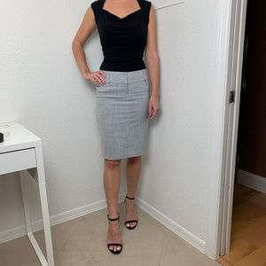 Express Gray Pencil Skirt, Excellent Condition!
